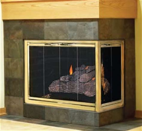 Corner Fireplace Glass Doors by Custom Glass Door Corner Units For Masonry Fireplaces