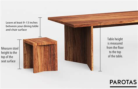 list of standard table chair heights how to calculate