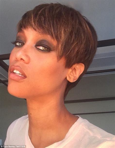 pixie brond tyra banks ditches signature long luscious tresses in