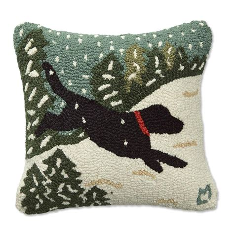 Doggie Pillow by Pillows Snowdogs Hooked Pillows Orvis