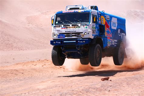 rally truck environmental impact of european organised dakar rally