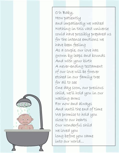 Showers Poem by Baby Shower Gift Poem Wblqual