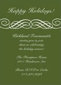 formal scroll invitation holiday party invitations from
