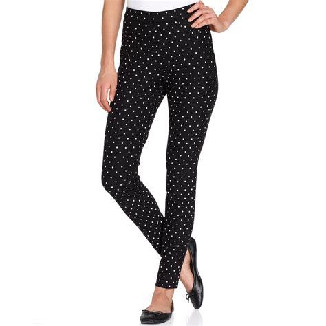 Legging Polkadot White lyst hue polka dot in white
