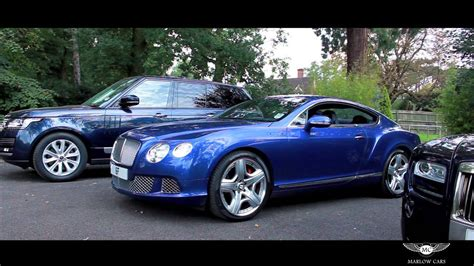 bentley coupe blue bentley continental gt marlow cars youtube