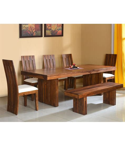 home by nilkamal delmonte solid wood 1 5 bench dining