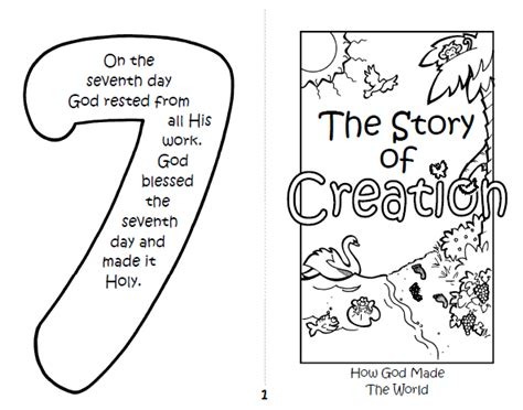 themes in the creation story holy handiwork children s christian activity book