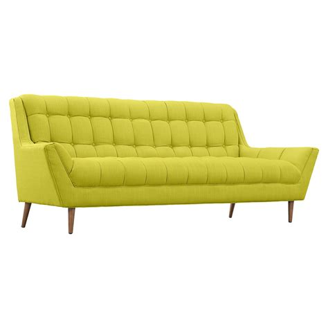 response fabric sofa flared arm tufted dcg stores