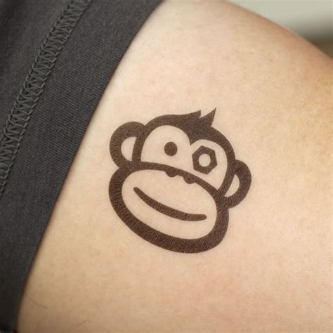 crazy monkey tattoo 25 best monkey stencils images on