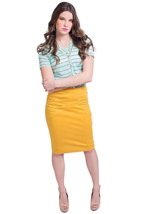 yellow skirt dressed up