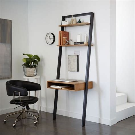 ladder desk with shelves ladder shelf desk west elm