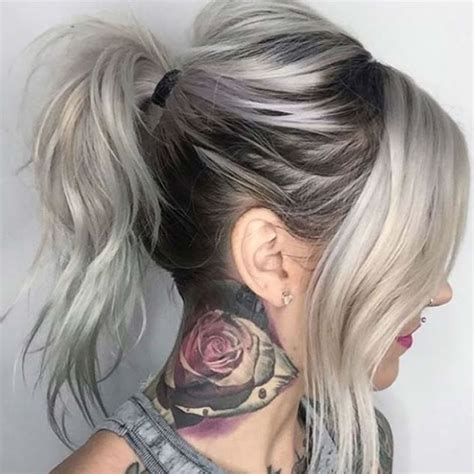glamorous styles for medium grey hair ombre hair for 2017 140 glamorous ombre hair color ideas