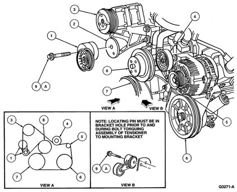 2001 mustang gt belt diagram how do i replace a serpentine belt on a 1995 mustang v6