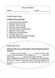english worksheet english year 3 pksr
