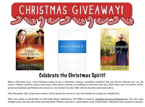 Great Giveaways - the great christmas giveaway announcement