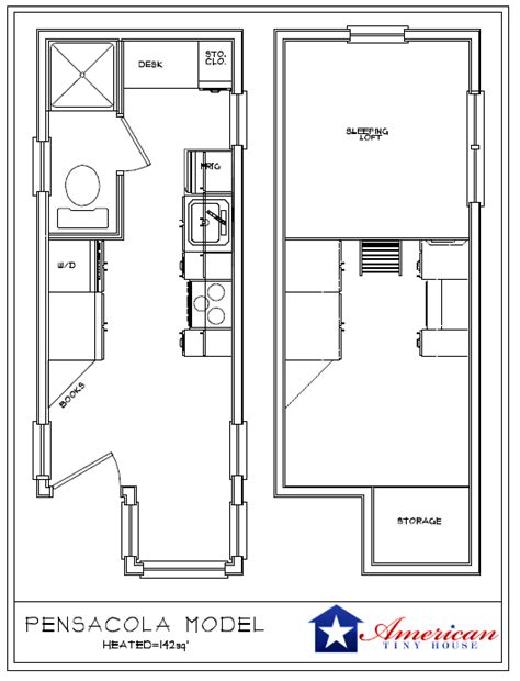 tiny house floor plans american tiny house