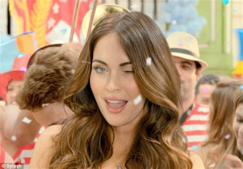 wink commercial yoga actress megan fox beer advert sexy actress whips off her top for
