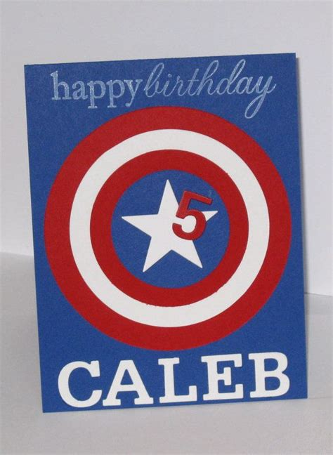 Captain America Birthday Card Best 25 Personalized Birthday Cards Ideas On Pinterest