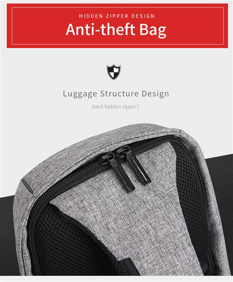Tas Anti Maling Anti Thelypteridaceae Backpack ryden tas selempang anti maling dengan usb charger port mr5898 black gray
