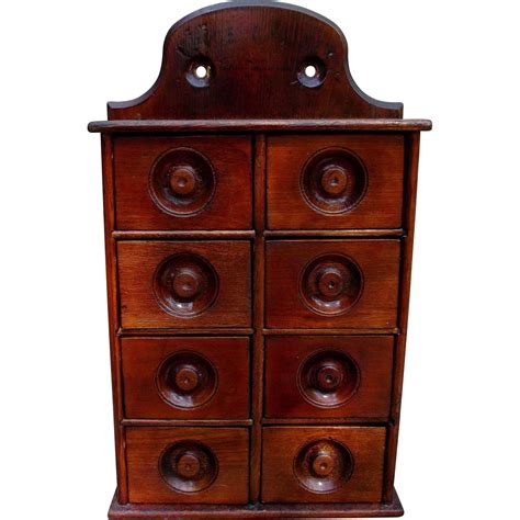 Spice Drawers Kitchen Cabinets by Antique Wood Spice Cabinet Kitchen Home Decor From