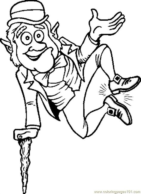 printable coloring pages leprechaun coloring pages leprechaun jumping holidays gt st