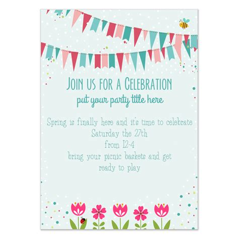 Spring Fling Celebration Invite Invitations Cards On Pingg Com Celebration Of Invitation Template