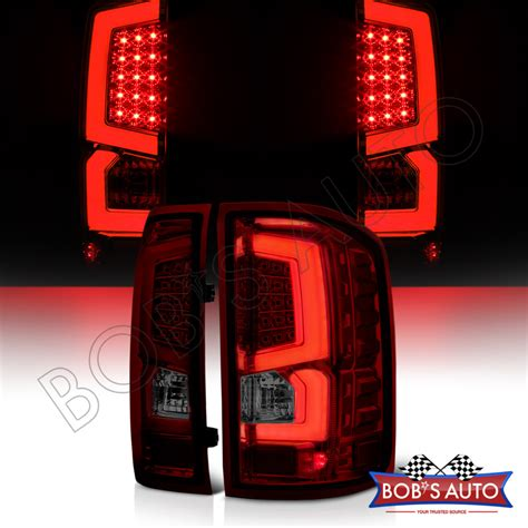 2014 gmc sierra tail lights 2014 2017 gmc sierra 1500 2500 3500 new dark smoke led