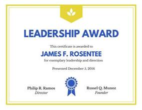 Leadership Certificate Template by Leadership Award Certificate Templates By Canva