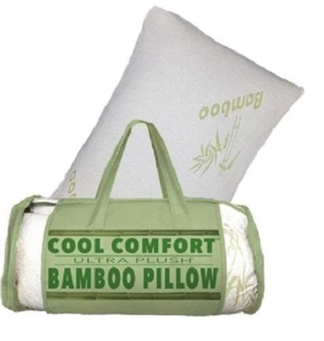 bamboo pillow with cool comfort cool comfort ultra plush queen bamboo pillow