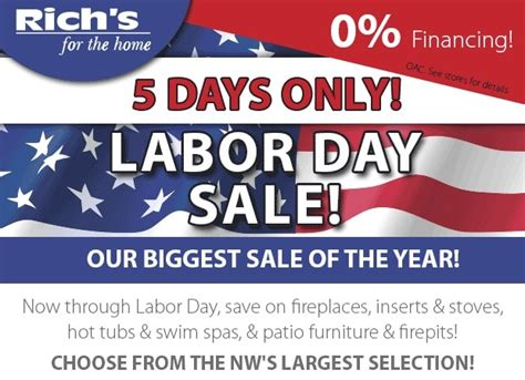 Labor Day Patio Furniture Sale by Labor Day Sale Savings Rich S For The Home