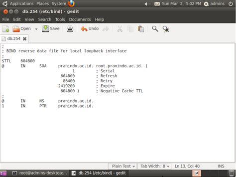 cara konfigurasi dns server pada ubuntu arif pagerejo smk negeri ngadirojo konfigurasi dns server
