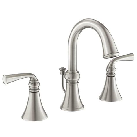 moen kitchen faucets brushed nickel shop moen wetherly spot resist brushed nickel 2 handle