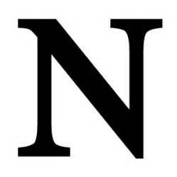 wrought iron letter n