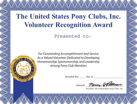 volunteer certificate templates download free premium