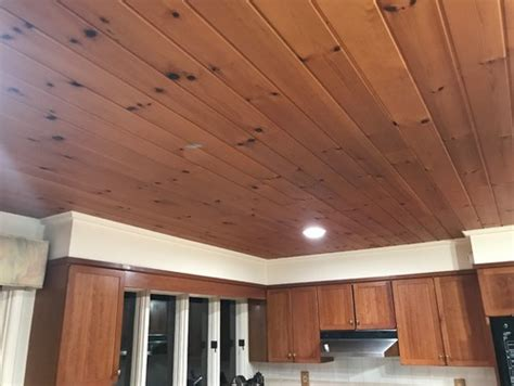 paint pine wood ceiling white or remove or leave it