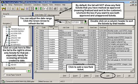 field ticket template oilfield service features caribou software