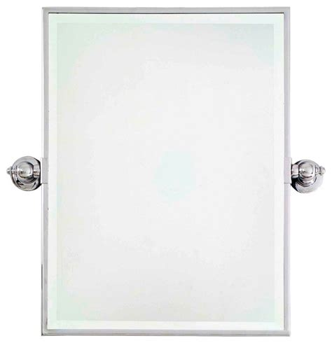 chrome bathroom mirrors traditional minka 24 quot high rectangle chrome bathroom wall