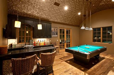 tin room gaming room with pressed tin ceiling decoist