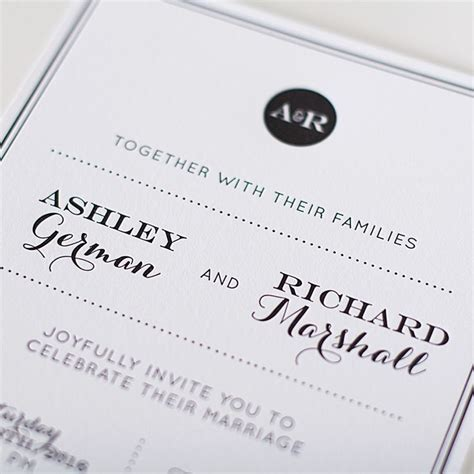 Stylish Wedding Invitations by Modern Stylish Wedding Invitations Yaseen For