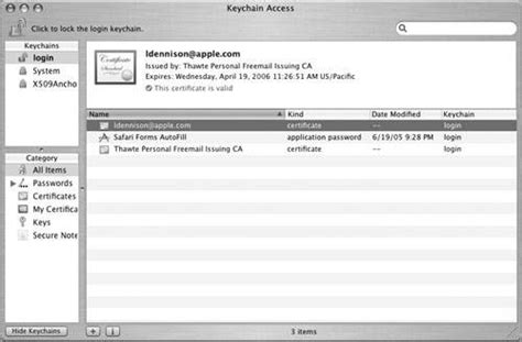 Mac Os X System Administration managing certificates on mac os x apple series
