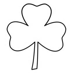 three leaf clover coloring page
