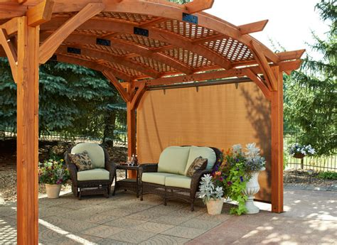 retractable sun shade pergola wall traditional patio