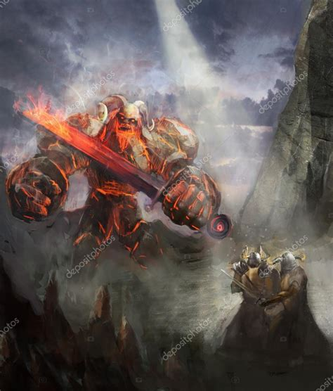 printable heroes fire giant ragnarok the fire giant vs heroes of valhalla stock