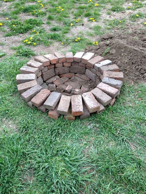 backyard brick fire pit red brick fire pit ideas fire pit pinterest bricks