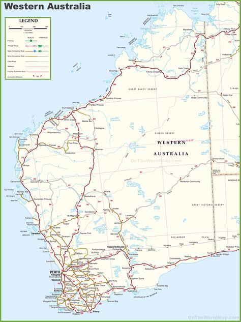 printable road maps australia western australia map roundtripticket me