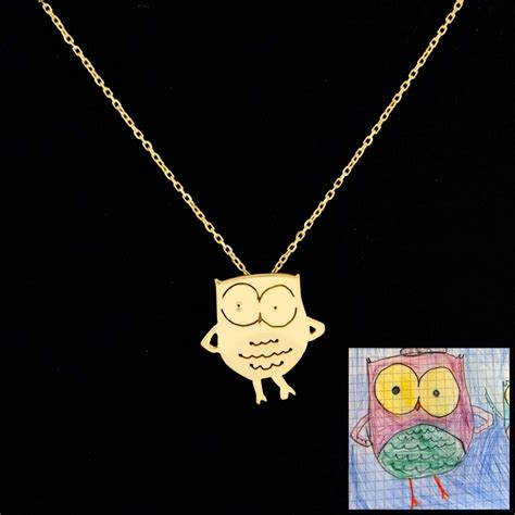 from jewelry children s drawings turned into finely crafted jewelry