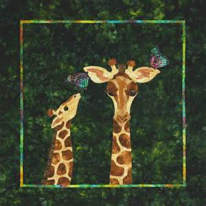 giraffe quot it s a jungle out here quot baby quilt