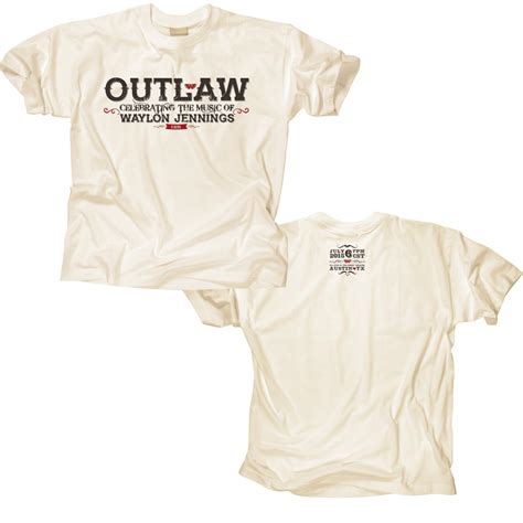 White Song Shirt outlaw waylon white t shirt blackbird
