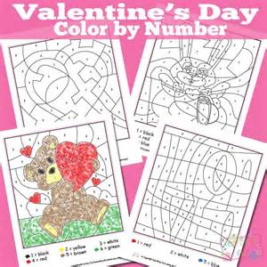 valentines day colors valentines day color by numbers worksheets itsy bitsy