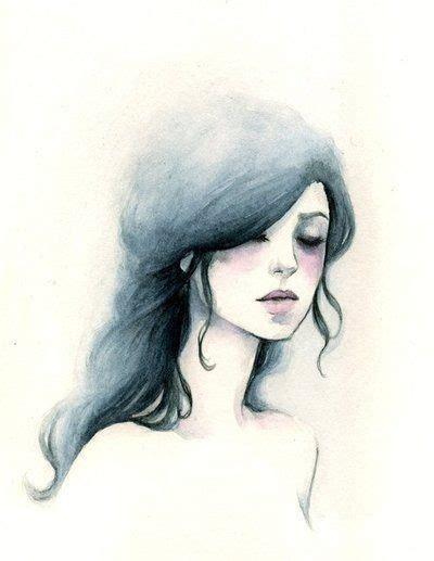 beautiful black drawing girl simple image 424462 on